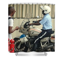 Police Escort Africa Shower Curtain