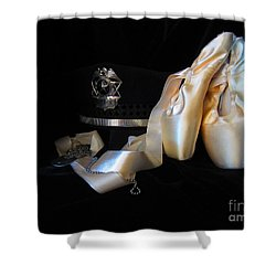 Police, Military, And Pointe Shoes Shower Curtain by Laurianna Taylor