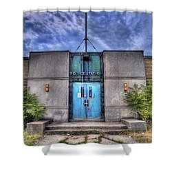 Police Station Shower Curtain by Tammy Wetzel