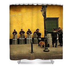 Policia In Lima Peru Shower Curtain