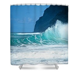 Polihale Beach  Shower Curtain by Kevin Smith