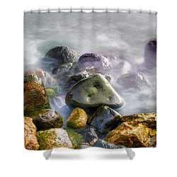 Polished Rocks Shower Curtain
