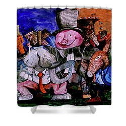 Shower Curtain featuring the painting Political Circus by eVol i
