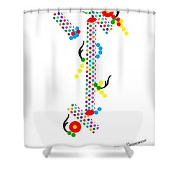 Polka Dot Blast Shower Curtain