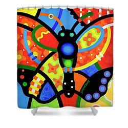 Kaleidoscope Butterfly Shower Curtain