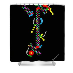 Polka Dot Dragon Shower Curtain