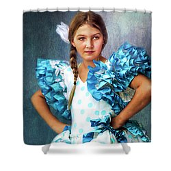 Shower Curtain featuring the photograph Polkadot Princess by Wallaroo Images
