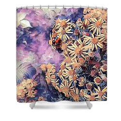 Pollen Gatherer Shower Curtain