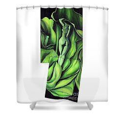 Shower Curtain featuring the painting Pollination by Fei A