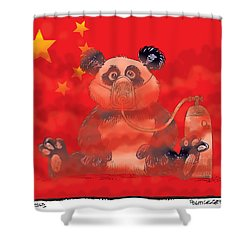 Pollution In China Shower Curtain