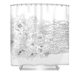 Polymer Fiber Spinning Shower Curtain by Regina Valluzzi