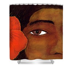 Polynesian Girl #67 Shower Curtain by Donald k Hall