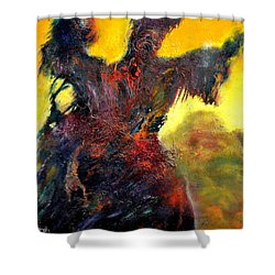 Polyphemus Hurling Boulders Shower Curtain
