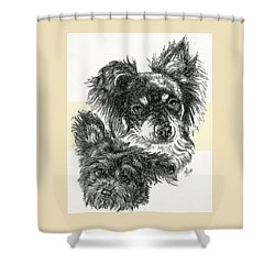 Pomapoo Father And Son Shower Curtain by Barbara Keith