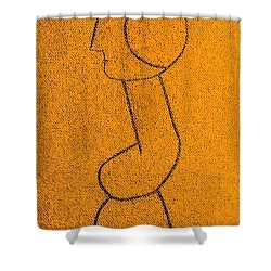 Shower Curtain featuring the painting Pompidou by Bill OConnor