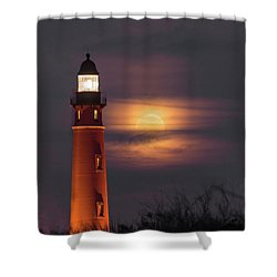 Ponce De Leon Full Moon Shower Curtain