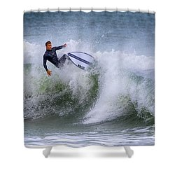 Shower Curtain featuring the photograph Ponce Surf 2017 by Deborah Benoit