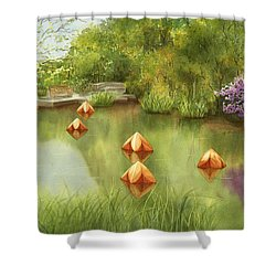Pond At Olbrich Botanical Garden Shower Curtain