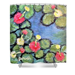 Pond Flowers Shower Curtain