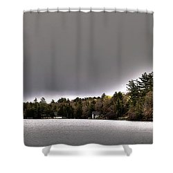 Pond Panorama Shower Curtain by David Patterson