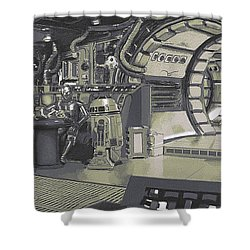Pondering Chewie's Next Move Shower Curtain