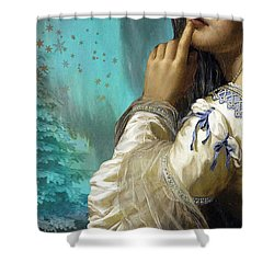 Pondering Peace Shower Curtain