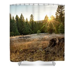 Ponderosa Sunset Shower Curtain