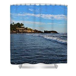 Poneloya Beach Before Sunset Shower Curtain