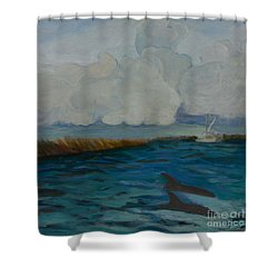 Pointe Aux  Chien Shower Curtain