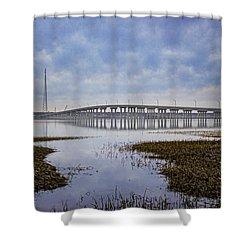 Ponquogue Bridge Hampton Bays Ny Shower Curtain
