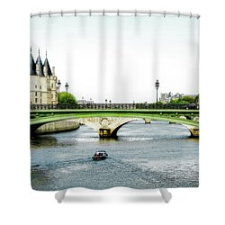 Pont Au Change Over The Seine River In Paris Shower Curtain
