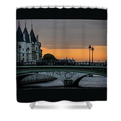 Pont Au Change Paris Sunset Shower Curtain