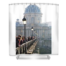 Shower Curtain featuring the digital art Pont D'art by Julian Perry