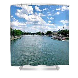River Seine At Pont Du Carrousel Shower Curtain