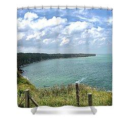 Pointe Du Hoc Shower Curtain