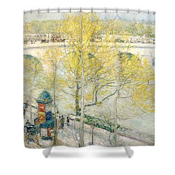 Pont Royal Paris Shower Curtain by Childe Hassam