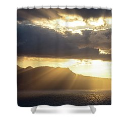 Ponta Do Rosto Shower Curtain by Evgeni Dinev
