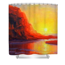 Ponta Negra, Peru Impression Shower Curtain