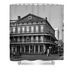 Pontalba Building In Black And White Shower Curtain