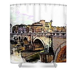 Ponte San Angelo, Rome, Italy Shower Curtain