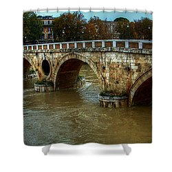 Ponte Sisto Bridge Rome Shower Curtain
