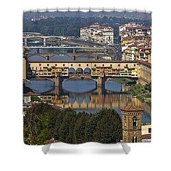 Ponte Vecchio - Florence Shower Curtain by Joana Kruse
