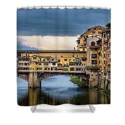 Ponte Vecchio E Gabbiani Shower Curtain