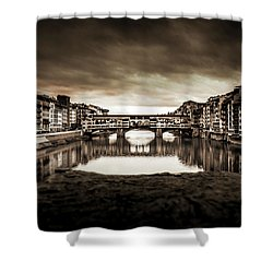 Ponte Vecchio In Sepia Shower Curtain