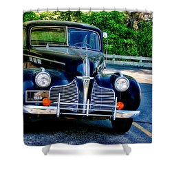 Shower Curtain featuring the photograph Pontiac 1940 by Joan Bertucci