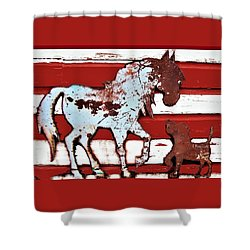 Pony And Pup 3 Shower Curtain