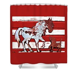 Pony And Pup Shower Curtain