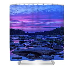Pony Pasture Sunset Shower Curtain