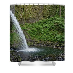 Ponytail Falls Shower Curtain by Greg Nyquist