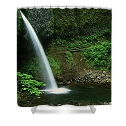 Ponytail Falls-h Shower Curtain